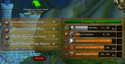 Archy - Archaeology Assistant для WoW 5.4.7