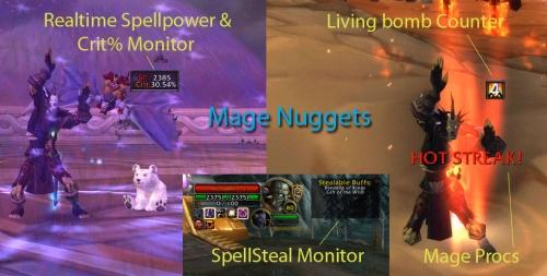 Бесплатное скачивание Mage Nuggets для WoW 4.3.4