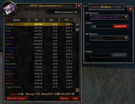 Бесплатное скачивание EPGP (dkp) для WoW 3.3.5